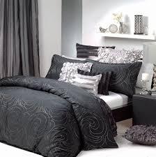 black silver quilt cover set