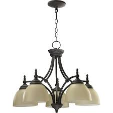 down lighting nook chandelier featuring