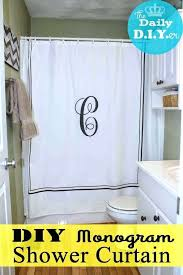 smlf monogram shower curtain personalize your bathroom with this easy stencil technique comic book shower curtain
