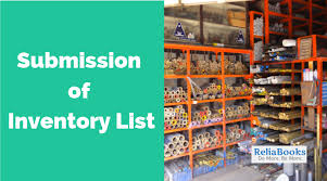 How To Do An Inventory List Submission Of Inventory List Reliabooks