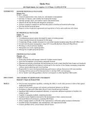Proposals Manager Resume Samples Velvet Jobs