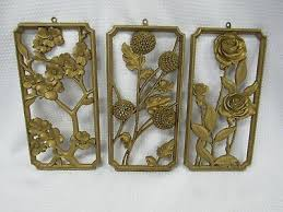 vintage syroco chinoiserie flowers