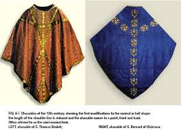 th century on pinterestchasubles of the  th century  on the left that of st  thomas becket