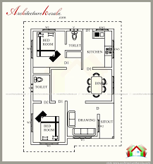 2 bedroom house plans kerala style kerala home design plan home