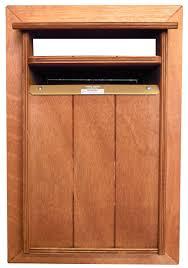 washington hardwood letterbox front