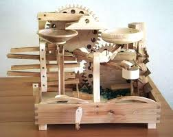 wooden marble run toy wood plans
