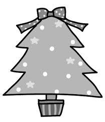 画像 1643 クリスマスの無料イラストかわいいカットカード集白黒