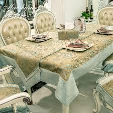 european garden embroidered table