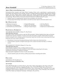 Educational Resume Examples Example Resume Templates
