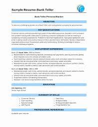 World Bank Resume Format Inspirational Sample Bank Teller Resume
