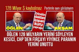 Habervitrini.com | 128 milyar doların kaybolmadığını belirten CHP li İlhan  Kesici fırçayı yiyince çark etti