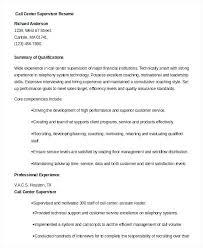 call center supervisor resume example resume examples for call call center  supervisor job description resume