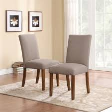 image of dorel living dorel living linen parsons chairs 2 pack taupe pertaining to parson