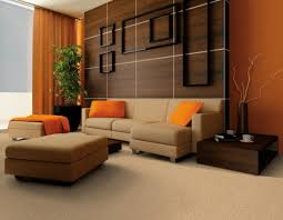 wall paint for brown furniture. orange living room is actually special decorating idea for home interior where you can find much color scheme applied on the wall accessories and paint brown furniture