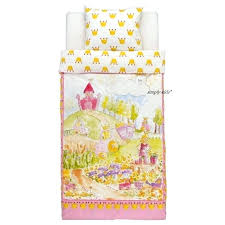 kids duvet quilt cover girls pink castle princess covers ikea twin bedrooms designs ideas
