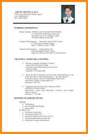 9 Sample Cv Format For Job Dtn Info