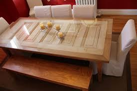 php29p3k4salvaged 5 panel door table 30
