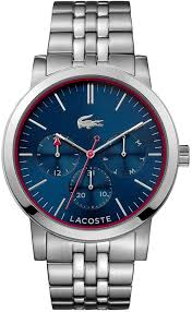 lacoste metro 2010878 stainless steel link strap mens watch men s lacoste metro stainless steel link strap watch 2010878