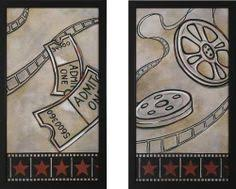 home theater wall decor. reel and ticket theater wall art pair by stargate cinema. $179.99. textured\u2026 home decor