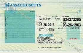 Fake Scannable Massachusetts Buy Identification Id Template