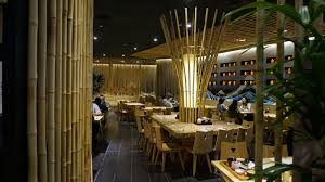restaurant lighting ideas. Bamboo Restaurant Design For Japanese Concept With Unique Dining Table Set And Lighting Ideas E