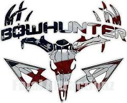 American Flag Bowhunter Deer Skull Arrows Vinyl Sticker Decal ...