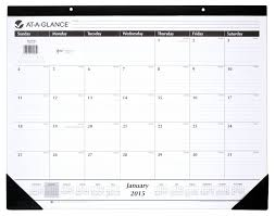Amazon Com At A Glance Monthly Desk Calendar 2015 21 75 X 16 Inch