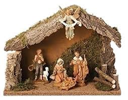 christmas stable. Interesting Christmas Fontanini 5 Piece Italian Christmas Nativity Set With Wooden Stable 54422  Italy With L