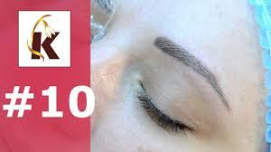 3d перманентный макияж татуаж бровей волосковый метод выпуск 10