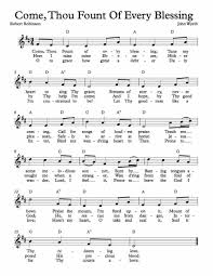 Come Thou Fount Chord Chart Free Sheet Music For Come Thou Fount Of Every Blessing