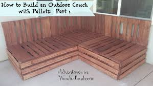 how to build and outdoor couch with pallets part 1 oudoorcouch