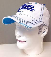 Bud Light Sun Visor Women Or Men Bud Light Hat White Blue Relaxed Fit Dad Cap