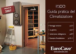 Calaméo climatizzatore per cantina eurocave inoa25 inoa50 www