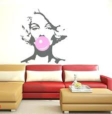 marilyn monroe wall stickers wall decals as well as bubble gum beauty hair salon wall decal