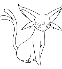 Small Picture Pokemon Coloring Pages Espeon Coloring Pages