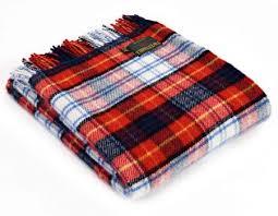 tweedmill red dress gordon tartan premium wool travel rug