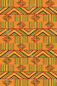 Ghana Fabric Designs African Textile Fabric Cloth Kente Ethnic Seamless Pattern