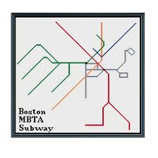 Boston Mbta Subway Cross Stitch Pattern Subway Map Pattern Metro Map Pattern Home Decor Pattern Pdf Instant Download