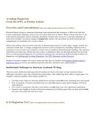 Avoiding Plagiarism From The Owl At Purdue Website Pages 1 6