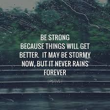 Things Will Get Better Quotes Classy Be Strong Because Things Will Get Better It May Be Stormy Now But