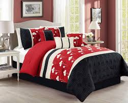 modern queen red white and black bedding pct microfiber