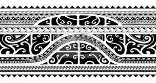 Fototapeta Tribal Styl Rameno Kapela Tetování Bezešvé