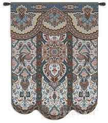 paradise oriental blue ornamental tapestry wall hanging ethnic motif h69 x w51