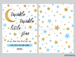 Stars Invitation Template Baby Shower Invitation Template Backgtround With Blue Gold