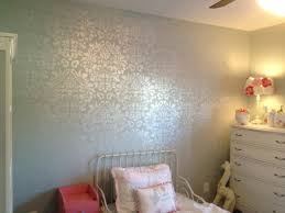 pearl wall paintDamask wallstencil with Martha Stewart pearl craft paint  for