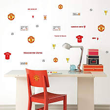 manchester united bedroom wall stickers