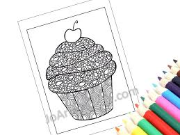 Small Picture Zentangle Inspired Printable Cupcake Coloring Page Zendoodle
