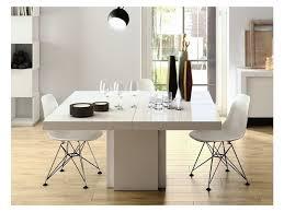 Table repas dusk 150 x 150 cm blanche brillante 20100845664 - Conforama