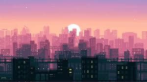 8 bit pixel art city 2o jpg