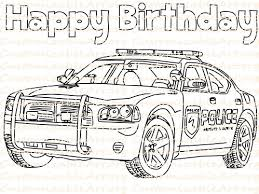 Small Picture Police Birthday Party Favor Printable Police Car Coloring Page